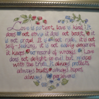 The finished piece, all framed!