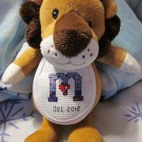 The finished stuffed lion!