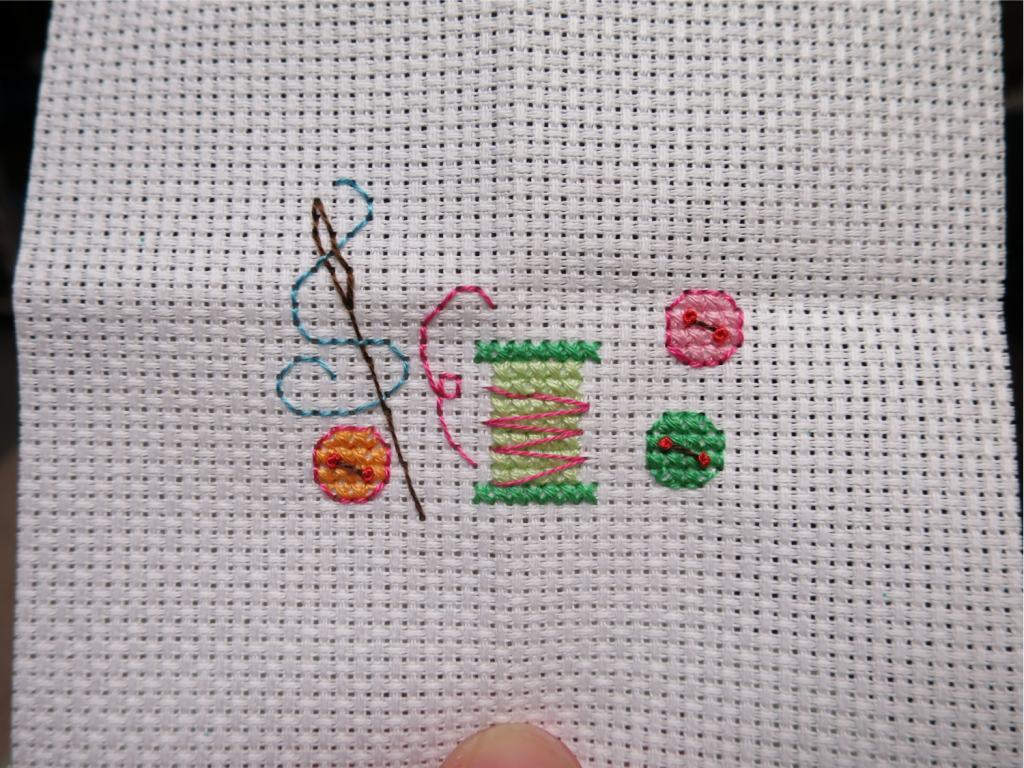 Needle and buttons are now finished! Just need the words.