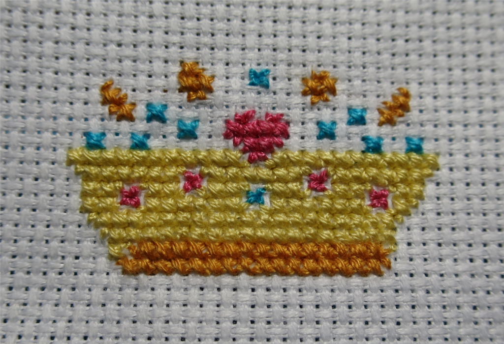 Bottom half of the crown complete!