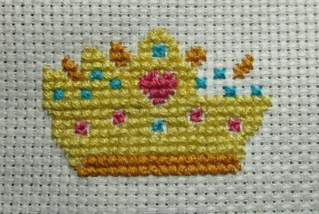 Top left half of the crown complete!