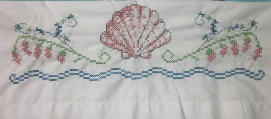 One finished pillow case down, one more to go!