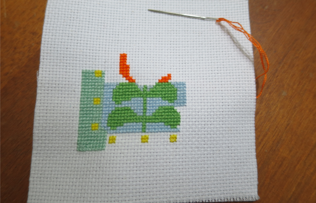 I had to stop and take a break because I stitched for too long.