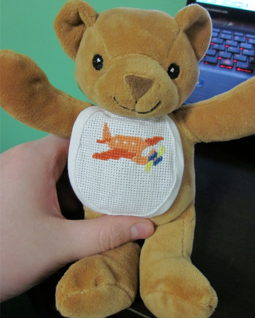 A picture of the full bear. I took a close-up of the stitching but it came out all blurry so this is a better view of it.