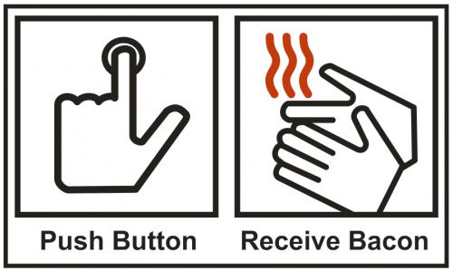 Push Button, Receive Bacon image.