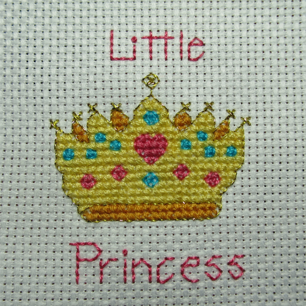 Little Princess all finished and ready to frame!