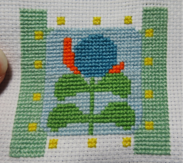 As you can see, I originally stitched it one too high...